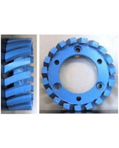 STUBBING WHEEL, 50mm ARBOR, 91x30x7, MED/HARD BOND, BLUE